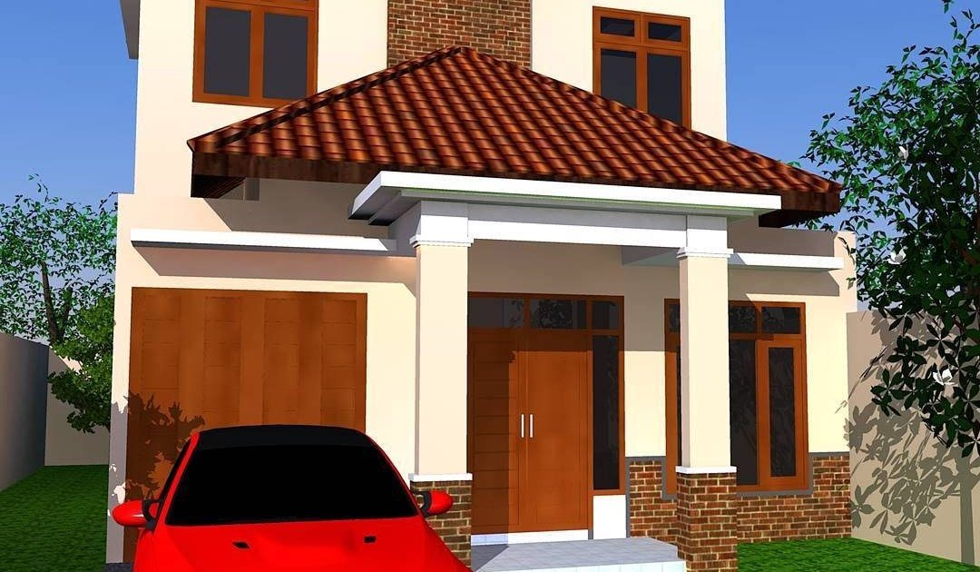 Contoh Desain Rumah Warna Coklat - Desain Rumah