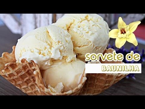 SORVETE CASEIRO DE BAUNILHA