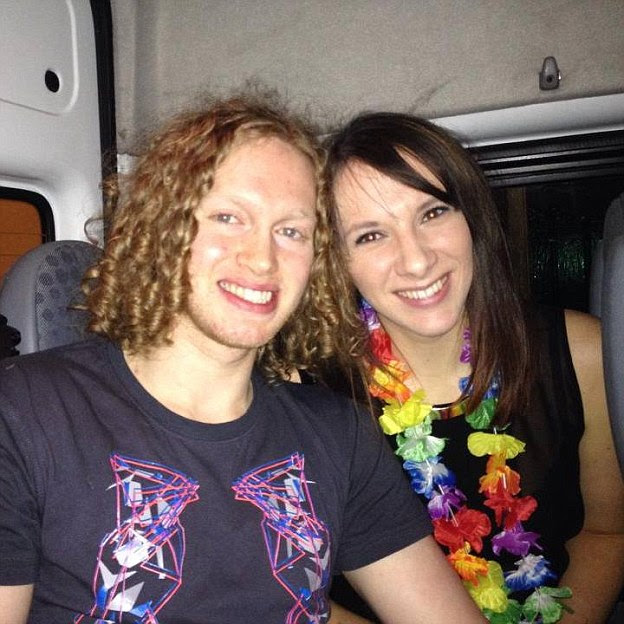 Engaged: She had been engaged to Liam Moore (pictured with Miss Lovett) since December