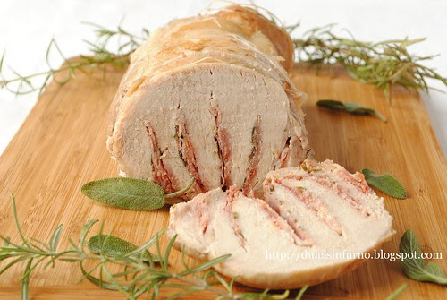 Arista Farcita con Pancetta-Bacon Stuffed Pork Loin