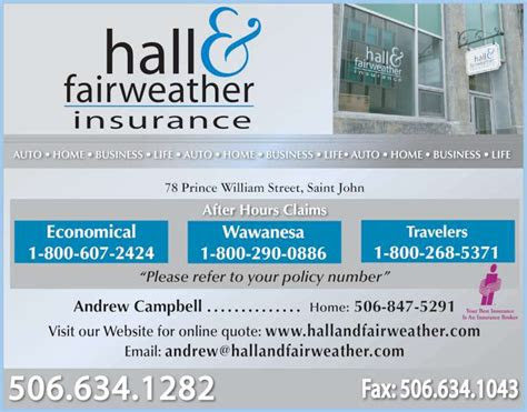 hall fairweather  opening hours  prince william
