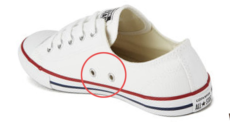 5d2c12d8bb98 Ever imagined what is the use of those two random holes on the side of the  shoes