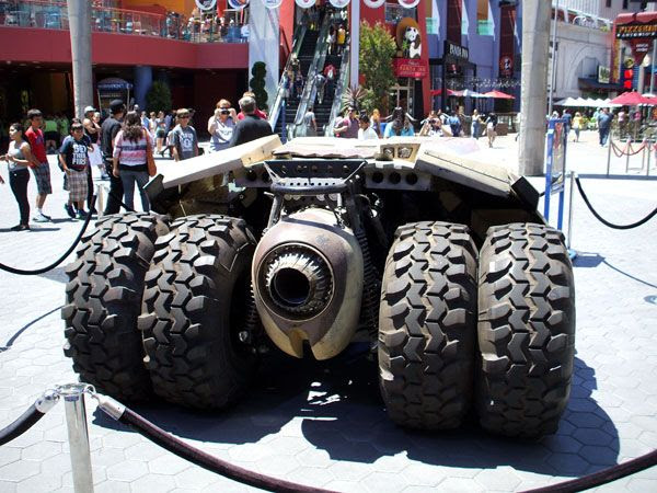 The Tumbler from THE DARK KNIGHT RISES on display outside of the AMC Citywalk theater in Hollywood, on July 20, 2012.