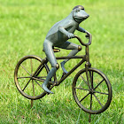 SPI Home Frog on Bicycle Garden Statue