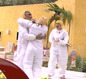 Daniel, Diana e Maria vencem a Prova da Comida (BBB / TV Globo)