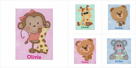 Personalized Baby Nursery Poster Collection
