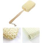 AllTopBargains Natural Sisal Fiber Bath Body Brush Spa Shower Back Sponge Scrubber Long Handle