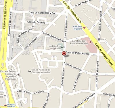Calle Serrano Madrid Mapa.Calle Serrano Madrid Mapa Mapa