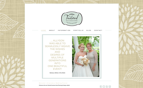 tailored occasions :: greensboro branding consultant