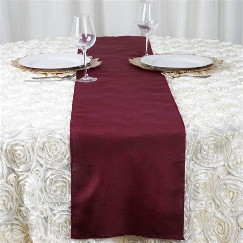 "25 POLYESTER 12x108"" Table RUNNERS Wholesale Wedding Party"