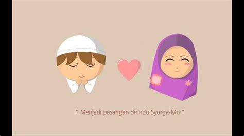 gambar kartun muslimah cantik jatuh cinta kartun muslimah