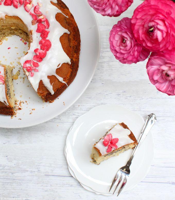 Mohnkuchen, Gugelhupf, Ranunkeln, Kuchenliebe