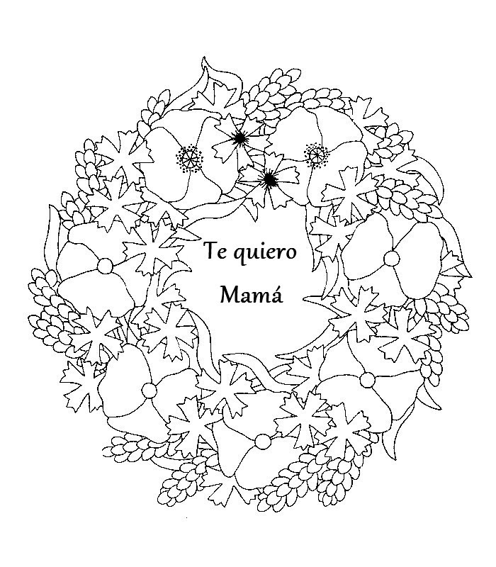 Feliz Dia De La Madre Dibujos Para Colorear Imagesacolorierwebsite