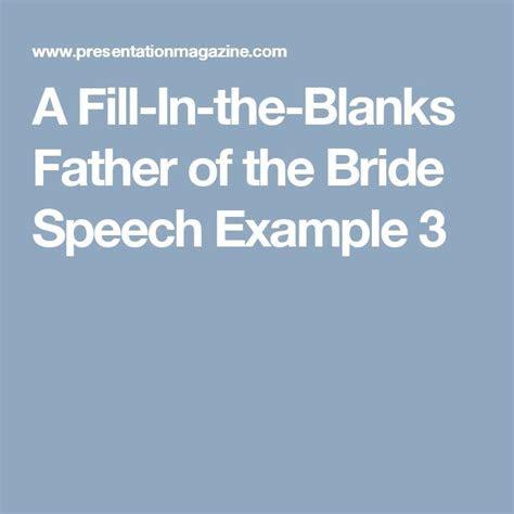 fill   blanks father   bride speech