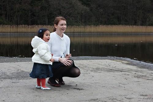 ireland - castleblayney: feeding ducks