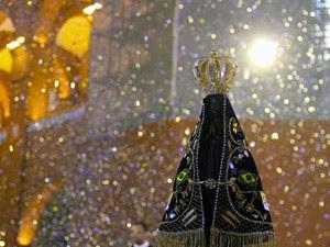 Imagem Nossa Senhora Aparecida Santuário Nacional (Foto: Carlos Santos/G1)