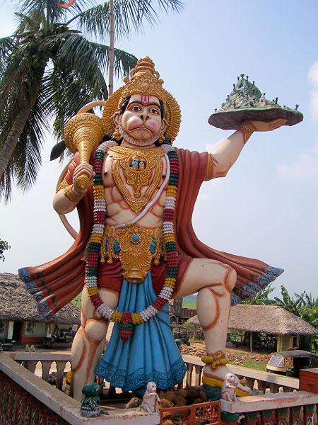 Fichier:Hanuman Statue In Haladiagada Kendrapada.JPG