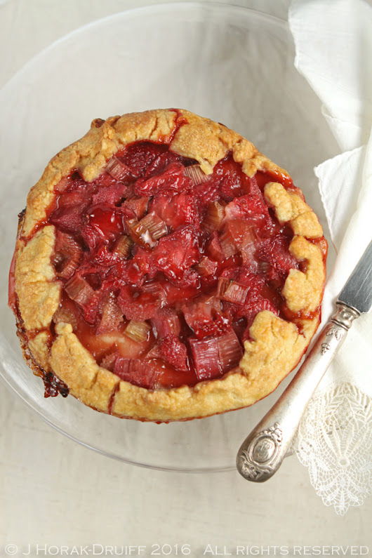 Rhubarb and strawberry galettes - Cooksister | Food, Travel, Photography