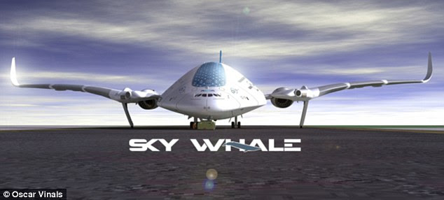 Designer Vinals has not announced any plans to build the concept aircraft, pictured