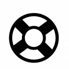救命浮き輪シルエット イラストの無料ダウンロードサイトシルエットac
