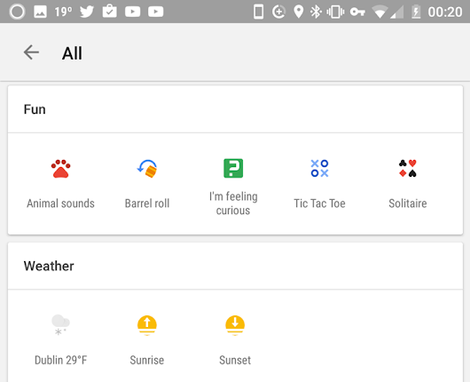 Google Now's contextual icon searches rolling out to more users