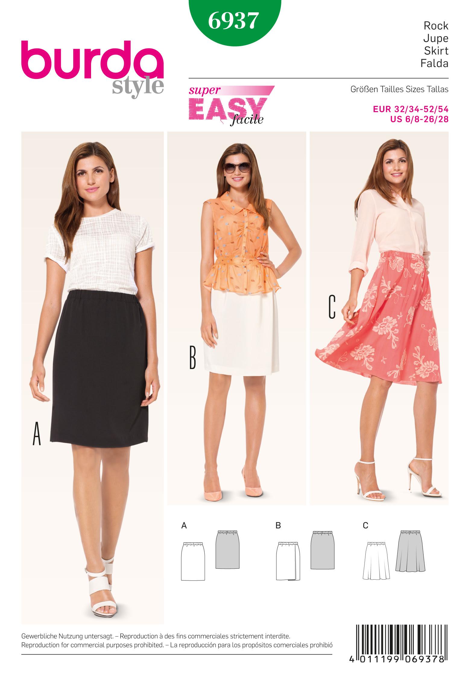 Burda Skirts 6937