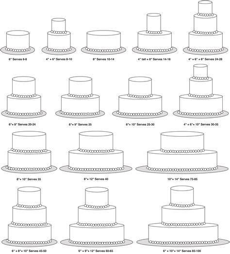 3 tier wedding cake sizes   idea in 2017   Bella wedding