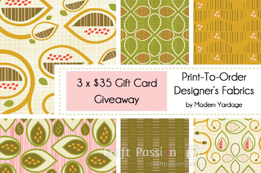 Giveaway: Modern Yardage Fabric Gift Cards | Free Pattern & Tutorial at CraftPassion.com