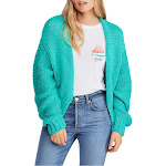 Free People | Glow for It Open-Front Cardigan | Green