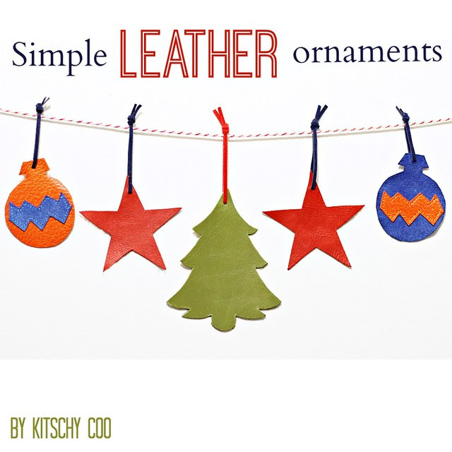 simple leather ornaments covers