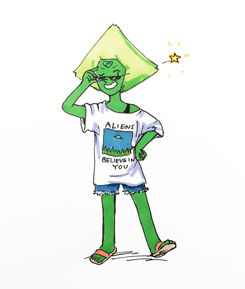 a peridot for @jkgames's bday a little while back!