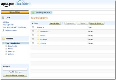 amazon cloud drive thumb أمازون تطلق خدمة Cloud Drive لتخزين الملفات الخاصة بك