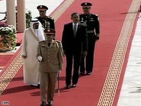 President Obama arrives Wednesday in Riyadh, Saudi Arabia, on the first leg of his international trip.