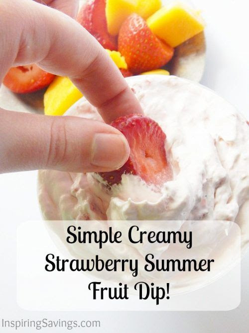 Simple Creamy Strawberry Fruit Dip Recipe!