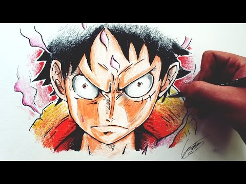 Desenhando o Monkey D. Luffy [One Piece] - (Drawing Luffy) - ONE PIECE #6