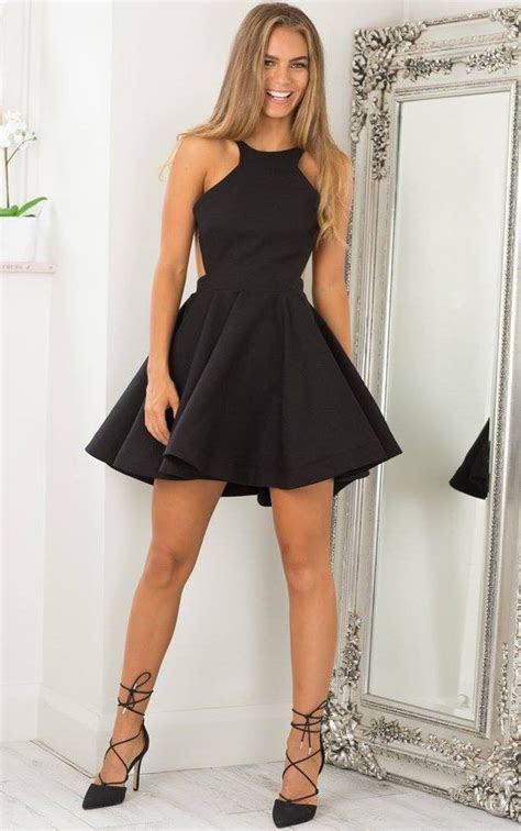 discount short sexy open  black homecoming dress
