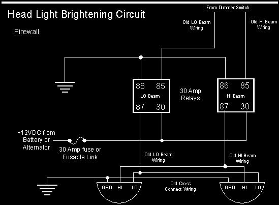 Chevy Headlight Wiring Upgrade Diagram