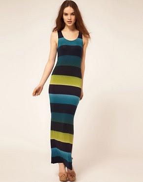 Image 1 of Warehouse Stripe Maxi Dress