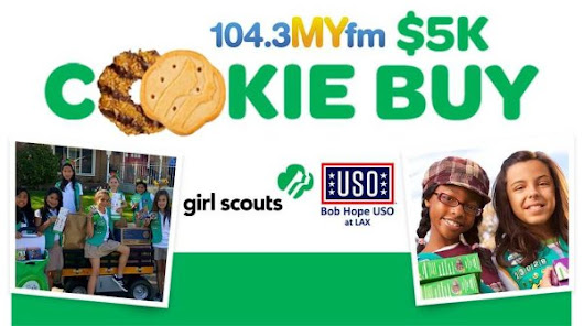 Valentine In The Morning could buy $5,000 in cookies from your Troop to donate to the USO! on 104.3 MYFM