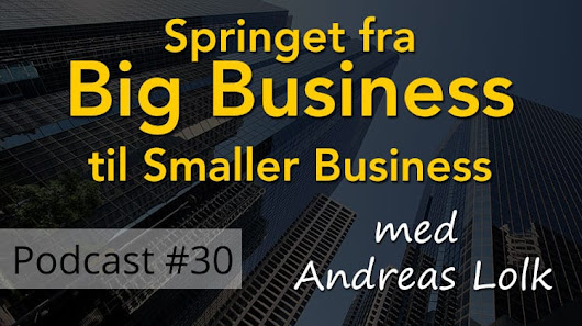 Springet fra Big Business til Smaller Business (Starting Over)