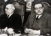 Azaña y Negrín. Negrín sustituye a Largo Caballero en mayo de 1937
