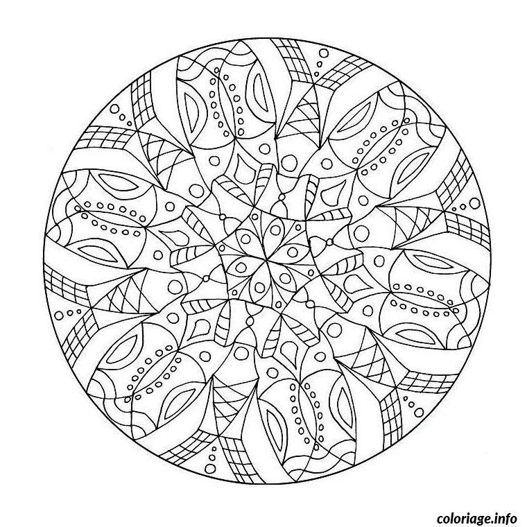 Coloriage Mandala Difficile 27 Jecoloriecom