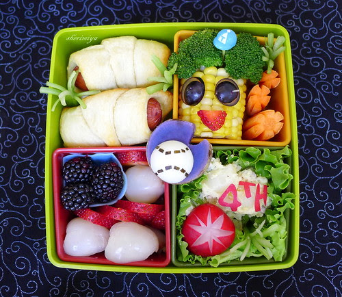 Fourth Of July Bento by sherimiya ♥