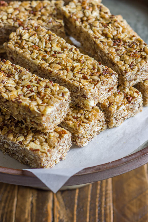 Healthy Chewy Apple Cinnamon Granola Bars - Lovely Little ...