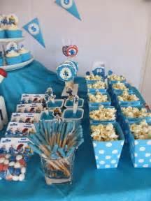 smurfs birthday party ideas photo    catch