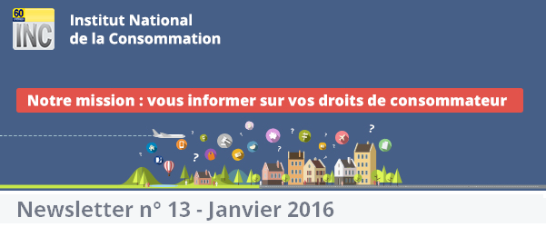 Le site de             l'Institut National de la Consommation