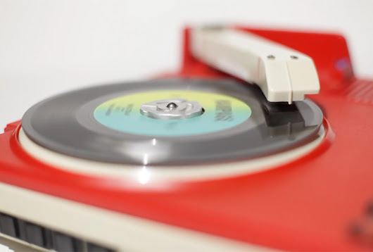 This collector turns toy Fischer Price turntables into portable DJ decks