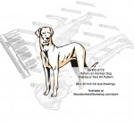 Rajapalayam Dog Intarsia or Yard Art Woodworking Pattern - fee plans from WoodworkersWorkshop® Online Store - Rajapalayam Dogs,pets,animals,dogs,breeds,instarsia,yard art,painting wood crafts,scrollsawing patterns,drawings,plywood,plywoodworking plans,woodworkers projects,workshop blueprints