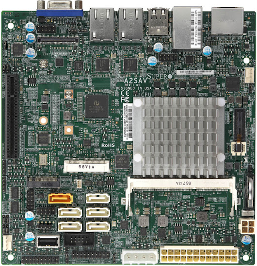 Supermicro A2SAV mini-ITX Board Powered by Intel Atom E3940 SoC Features 6 SATA Ports, Dual GbE, and Up to 9 USB Interfaces