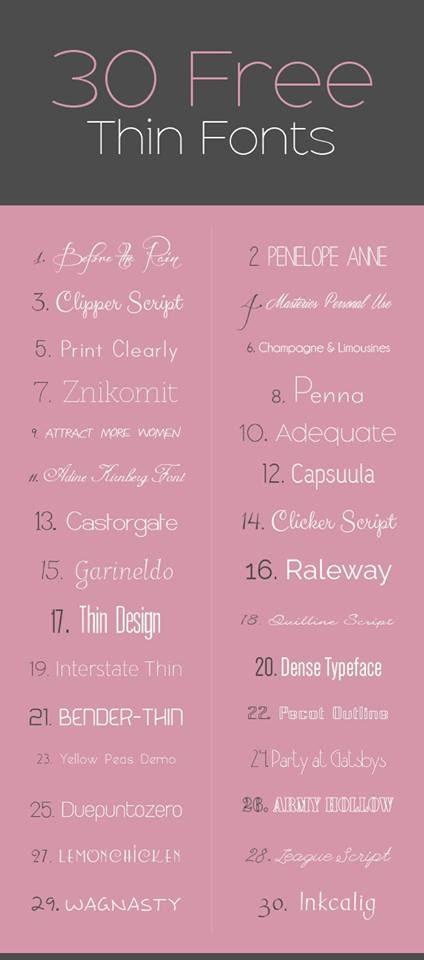 Tổng hợp bộ font chữ đẹp dành cho thiết kế